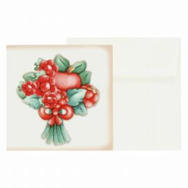 Small gift card red berries
