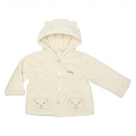 Beige unisex jacket 3-6 months THUN & OVS in bio cotton Angel & Teddy
