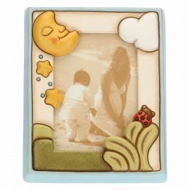 Medium photo frame with moon 9,2x13,6 cm boy
