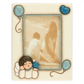 Medium photo frame for boy with angel 9.2 x 13.6 cm