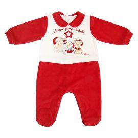 """Pagliaccetto bianco e rosso unisex 0-3 mesi THUN & OVS in ciniglia """"Il mio primo Natale"""""""