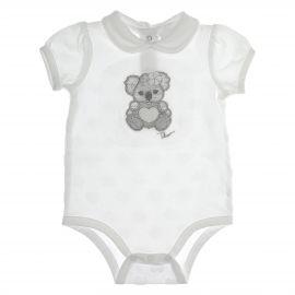 Body intimo bianco bimba 1-3 mesi THUN & OVS in cotone biologico Koala