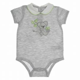 Body intimo grigio bimbo 1-3 mesi THUN & OVS in cotone biologico Koala