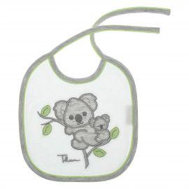 Bavetta bianca bimbo con laccio THUN & OVS in cotone biologico Koala