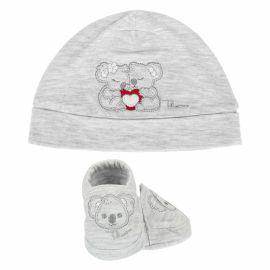 Cappello e scarpine grigie bimbo THUN & OVS ciniglia Koala