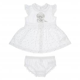 "THUN & OVS ""Sweet Angel"" baby girl outfit with briefs in organic cotton - 1-3 months"