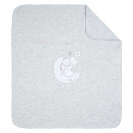 "THUN & OVS ""Sweet Angel"" grey blanket in organic cotton"