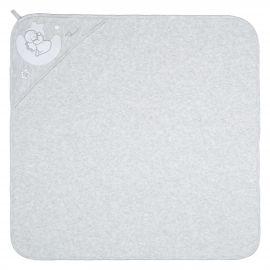 "THUN & OVS ""Sweet Angel"" grey bathrobe in organic cotton"