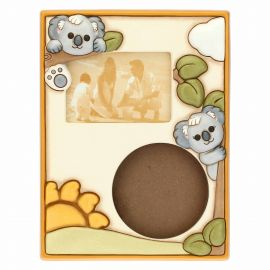 Unisex hand mould photo frame with Koala; photo format 13.5x9 cm