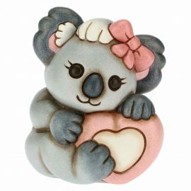 Girl koala with pink heart
