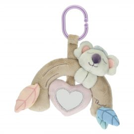 Crib rattle for baby girl with Koala soft toy