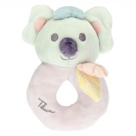 Pink rattle with Koala soft toy