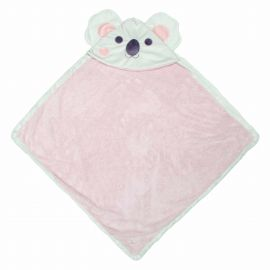 Girl's bath towel with Koala hood