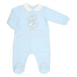 THUN & OVS Koala baby blue romper in chenille