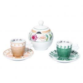 Set 2 espresso cups with sugarbowl Orianne