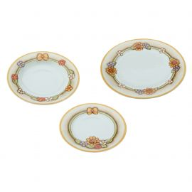 Set 18 plates Country (6 dinnerplates, 6 soupplates, 6 dessert plates)