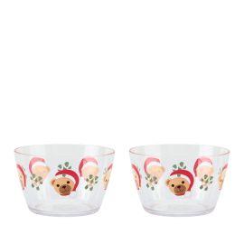 Set 2 acrylic bowls Storie di Natale