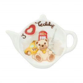 Poggia bustina tè / tisane in porcellana Teddy Londra