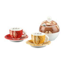 Set 2 tazzine caffé e zuccheriera Samba