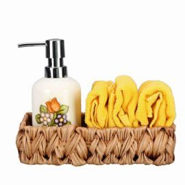 Gift set bath dispenser and towel