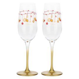 """Set 2 glasses flûte """"Dolce Natale"""""""