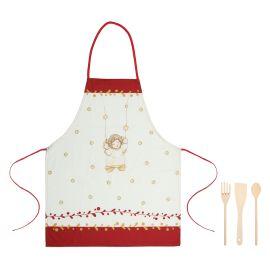 """Set apron with 3 ladles """"Dolce Natale"""""""