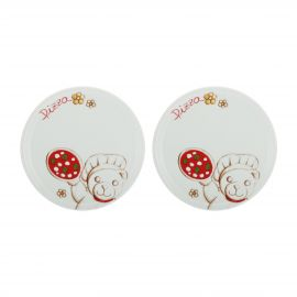 Set 2 pizza plates Teddy chef