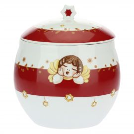 "Porcelain biscuits holder ""Dolce Natale"""