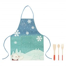 "Set apron with 3 ladles ""Dolce Inverno"""