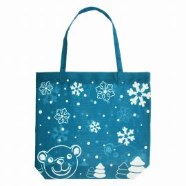 Shopper in fabric Christmas