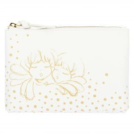 "Multipurpose trousse in eco-leather ""Angel gold"""