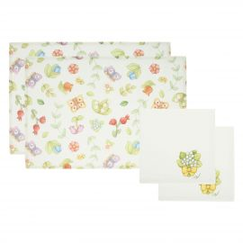 Set 2 placemats and 2 napkins Country