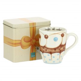 "Mug with tin box ""New sweet cake"""
