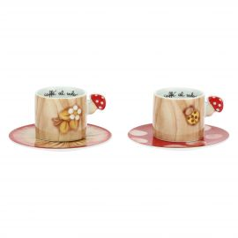 "Set 2 coffee cups ""Bosco incantato"""