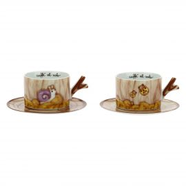 Set 2 medium cups Bosco incantato