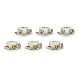 Set 6 coffee cups Country