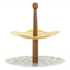 Double cake stand Country