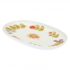 Big oval plate Country with sunflower and butterfly