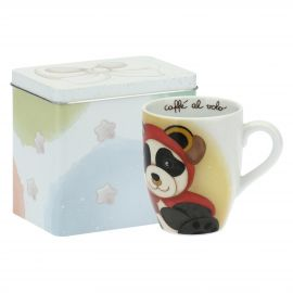 Mug Panda Taurus with tin box