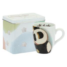 Mug Panda Gemini con scatola in latta