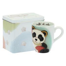 Mug Panda Cancer con scatola in latta