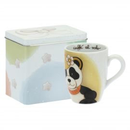Mug Panda Virgo with tin box
