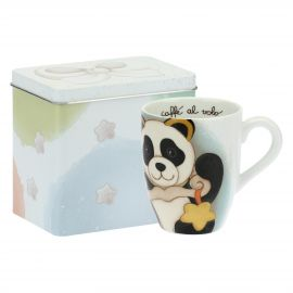 Mug Panda Libra con scatola in latta