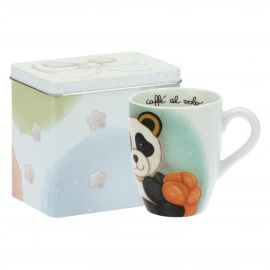 Mug Panda Scorpio with tin box