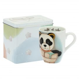 Mug Panda Aquarius with tin box
