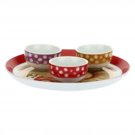 "Set 3 bowls with tray ""Bosco incantato"""