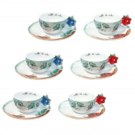 "Set 6 coffee cups ""Preludio d'inverno"""