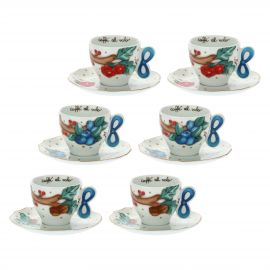 "Set 6 coffee cups ""Chiaro di luna"""