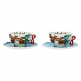 "Set 2 medium cups ""Chiaro di luna"""