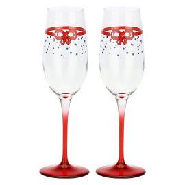 """Set 2 glasses flûte """"Chiaro di luna"""""""